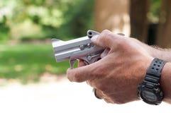 银色枪 免版税库存照片