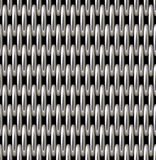 银色栅格传染媒介无缝的样式 库存图片