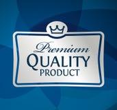 银色标签优质合格品 免版税库存图片
