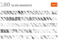 银色梯度集合 金属银 库存图片