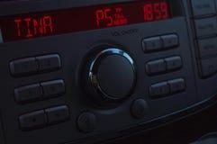 银色汽车收音机 库存例证