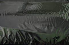 银色油布料纹理 图库摄影