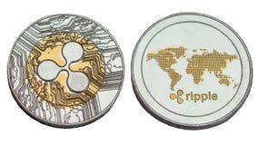 银色波纹硬币 免版税库存照片
