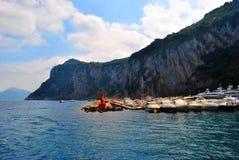 银色海岛它是卡普里岛 库存图片