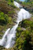 银色瀑布在Sapa,越南 库存图片