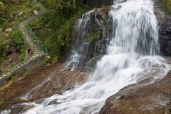 银色瀑布在Sapa 库存图片