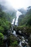 银色瀑布是美丽的瀑布在Sapa 免版税库存照片