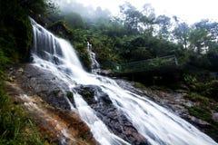 银色瀑布是美丽的瀑布在Sapa 库存照片