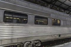 银色火车 库存图片