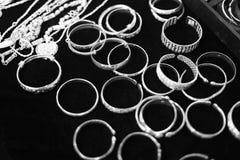 银色珠宝 免版税库存照片