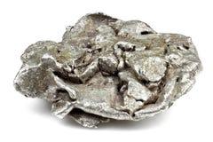 银色矿块 免版税图库摄影