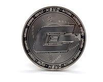 银色破折号硬币 免版税图库摄影