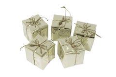 银色礼物盒 库存图片