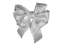 银色礼物装饰六圈弓 库存图片