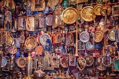 银色纪念品在摩洛哥 免版税库存图片