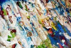 银色绿色结构察觉背景,闪耀的泥泞的蜡状的油漆,对比在淡色颜色的形状背景 库存图片