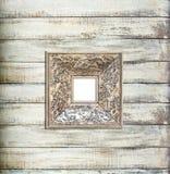 银色葡萄酒画框 免版税库存照片