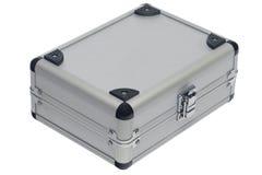 银色金属盒 免版税库存图片