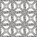 银色铁丝网或篱芭的无缝的样式在白色 库存图片