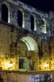 银色门 皇帝Diocletian的宫殿 已分解 克罗地亚 免版税库存照片