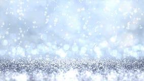 银色闪烁纹理抽象圣诞节背景 r 向量例证