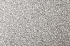 银色闪烁背景,发光的纸纹理 库存照片