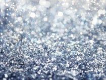 银色闪耀的水晶背景 图库摄影