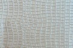 银色鳄鱼皮革 免版税图库摄影