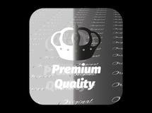银色贴纸保险费质量 免版税库存照片