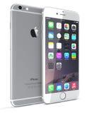 银色iPhone 6 库存图片