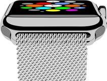 银色smartwatch 免版税图库摄影
