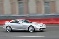 银色sportcar 免版税库存照片