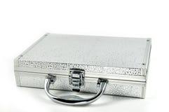 银色valise 免版税图库摄影