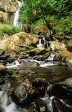 银落国家公园瀑布 免版税图库摄影