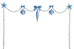 银蓝色圣诞节赃物 库存照片