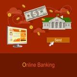 银行业务可能计算机概念费用等在线问题象征 免版税图库摄影