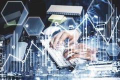 银行业务可能计算机概念费用等在线问题象征 免版税库存图片