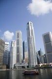银行业务地区新加坡 库存照片