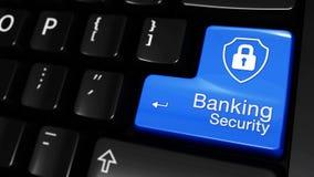 01 银行业务安全移动的行动进入在键盘的被标记的按钮有文本的和象 皇族释放例证