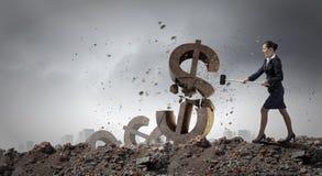 银行业务概念保证金百分比符号 免版税库存照片