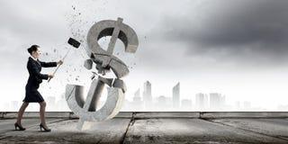 银行业务概念保证金百分比符号 免版税图库摄影