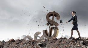银行业务概念保证金百分比符号 免版税库存图片