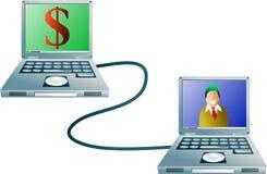 银行业务计算机 库存例证