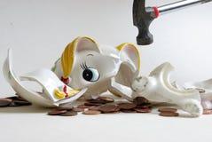 银行中断 免版税图库摄影