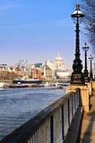银行伦敦南视图 库存照片