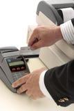 银行信用卡贷项事务处理 免版税图库摄影