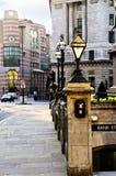 银行入口伦敦岗位 库存照片