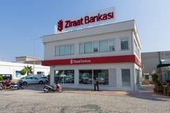 银行分行Ziraat Bankasi 免版税库存照片
