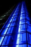 银行办公室-蓝色区域电梯 免版税库存照片