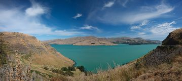 银行半岛克赖斯特切奇新西兰 免版税图库摄影